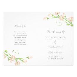 Vintage Garden Roses - wedding program