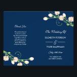 "Vintage Garden Roses - wedding program<br><div class=""desc"">Vintage Garden roses on blue wedding program. Customizable. Part of a wedding collection.</div>"