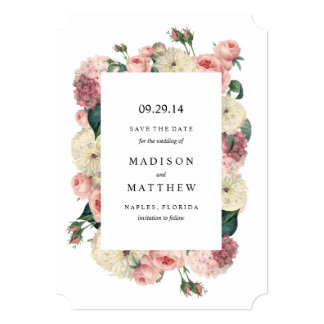 Vintage Garden | Save the Date Announcement