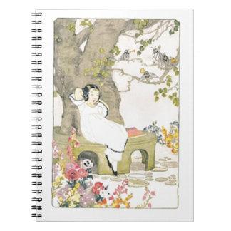 Vintage Garden Scene Notebook