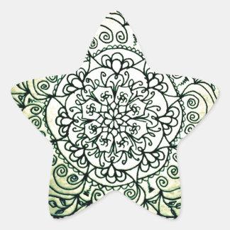 Vintage Garden Star Sticker