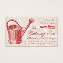 Vintage Garden Supply, Florist Shop Business Card
