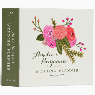 Vintage Garden Wedding Binder