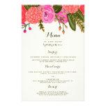 """Vintage Garden Wedding Dinner Menu 5.5"""" X 8.5"""" Flyer"""