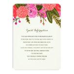 Vintage Garden Wedding Insert Card