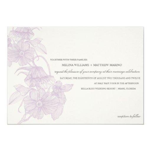 VINTAGE GARDEN | WEDDING INVITATION