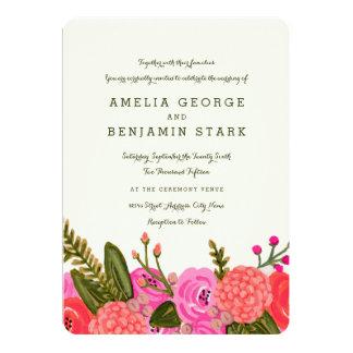 "Vintage Garden Wedding Invitation 5"" X 7"" Invitation Card"