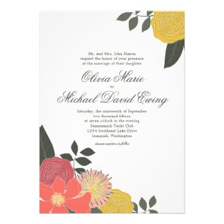 Vintage Garden Themed Wedding Collection with colorful floral arrangement
