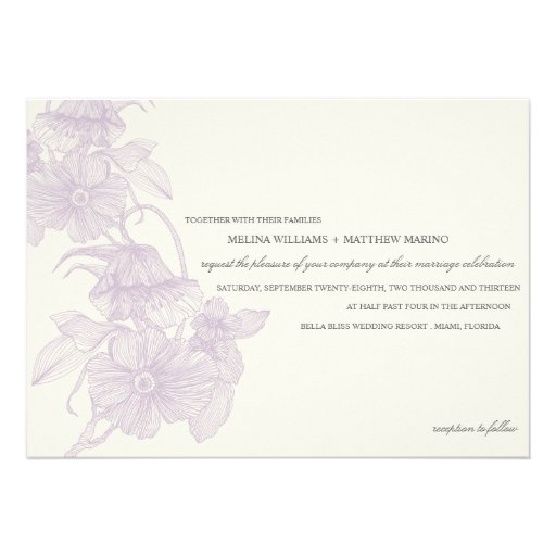 VINTAGE GARDEN   WEDDING INVITATION