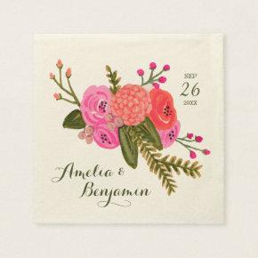 Vintage Garden Wedding Paper Napkins