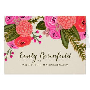 Vintage Garden Wedding Party Card at Zazzle