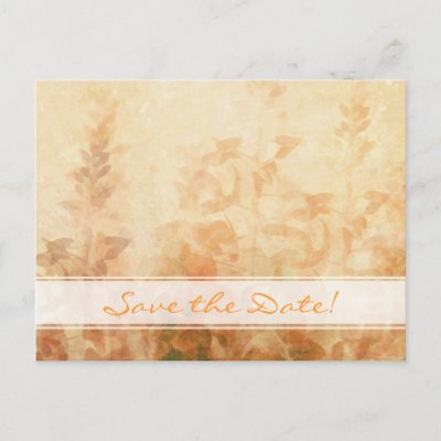Vintage Garden Wedding Save The Date Post Cards by TheBrideShop