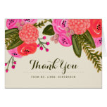 Vintage Garden Wedding Thank You Greeting Cards