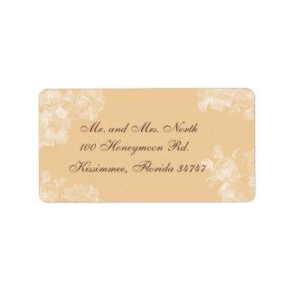 Vintage Gardenia Address Label