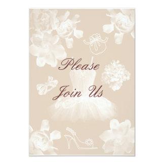 "Vintage Gardenia Bridal Shower Invitation 5"" X 7"" Invitation Card"