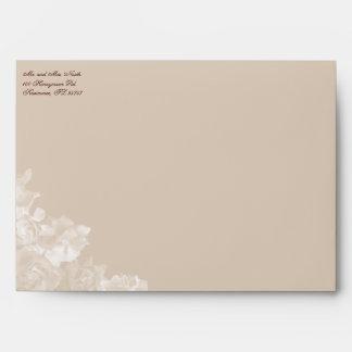 """Vintage Gardenia Envelope 7"""" x 5"""" Greeting Card"""