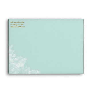 "Vintage Gardenia Envelope 7"" x 5"" Greeting Card"