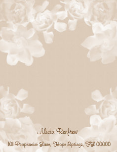 Wedding Paper Letterhead Zazzle