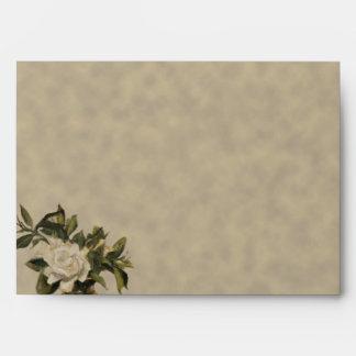 Vintage Gardenia Wedding Envelope