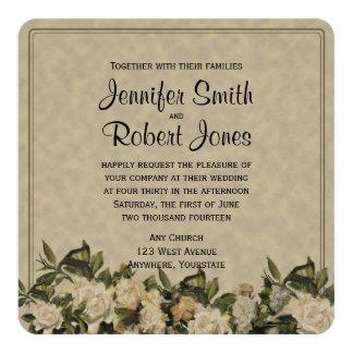Vintage Gardenia Wedding Invitation