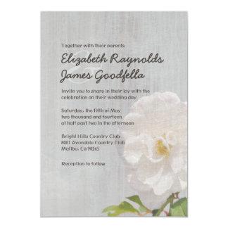 "Vintage Gardenia Wedding Invitations 5"" X 7"" Invitation Card"