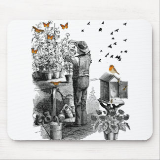vintage gardening a great gift for any gardener mouse pad