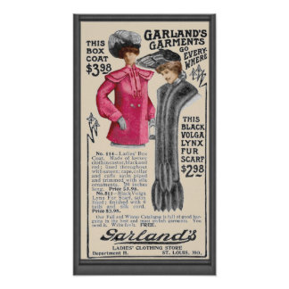 Vintage Garland's Garments (St. Louis) Ad Poster
