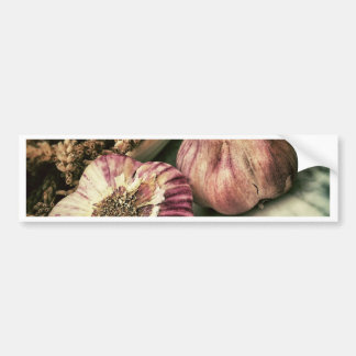 Vintage Garlic Bumper Stickers