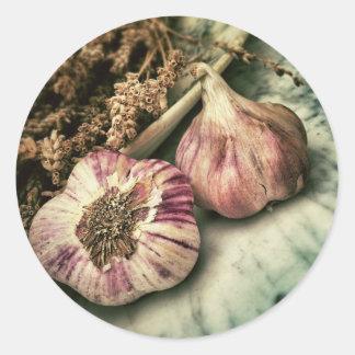 Vintage Garlic Sticker