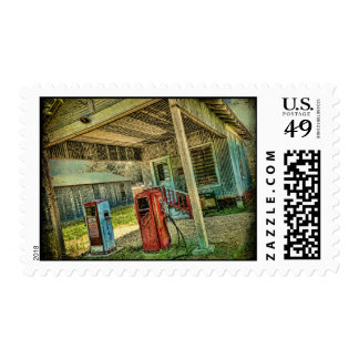 Vintage Gas Station Postage