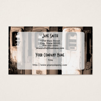 Vintage Gasoline Pumps Business Card