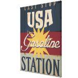 Vintage Gasoline Sign Canvas Print