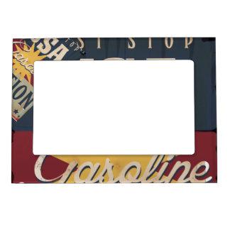 Vintage Gasoline Sign Magnetic Frame