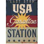 Vintage Gasoline Sign Photo Cutout