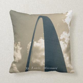Vintage Gateway Arch Throw Pillow