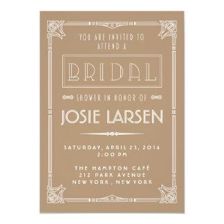 Vintage Gatsby Art Deco Bridal Shower Invitations