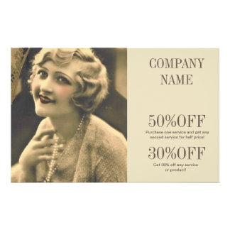 vintage gatsby girl SPA salon hair makeup artist Flyer