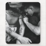 Vintage gay interest hunk sailors with tattoos mouse pad