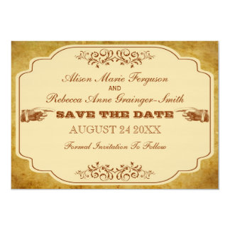 Vintage Gay Lesbian Save The Date Card