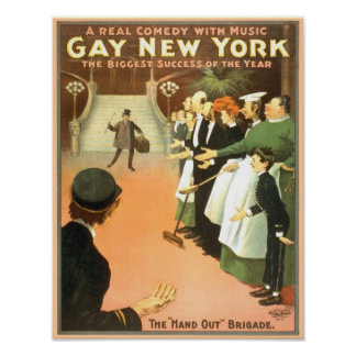 Vintage Gay New York Theater Poster
