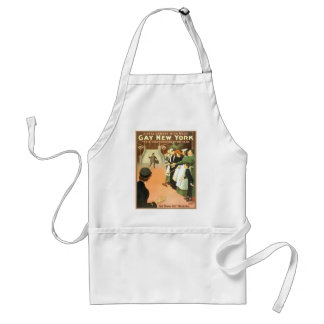 Vintage Gay New York Theater Poster Adult Apron