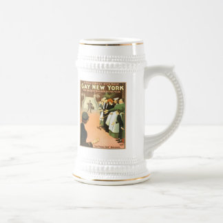 Vintage Gay New York Theater Poster Beer Stein