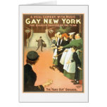 Vintage Gay New York Theater Poster Card