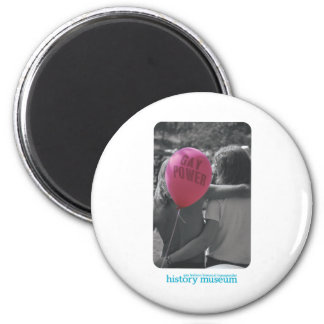 Vintage Gay Power Photo 2 Inch Round Magnet