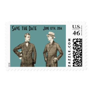 Vintage Gay Save the Date Stamps