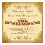 Vintage Gay Wedding Theatre Production 5.25x5.25 Square Paper Invitation Card