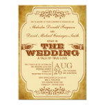 Vintage Gay Wedding Theatre Production 5x7 Paper Invitation Card