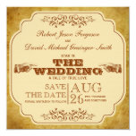 Vintage Gay Wedding Theatre Save The Date 5.25x5.25 Square Paper Invitation Card