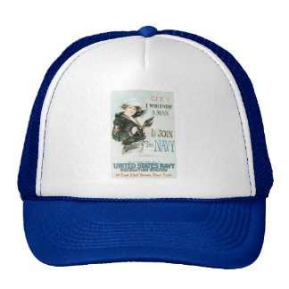 Vintage Gee I wish I were a man Poster Trucker Hat