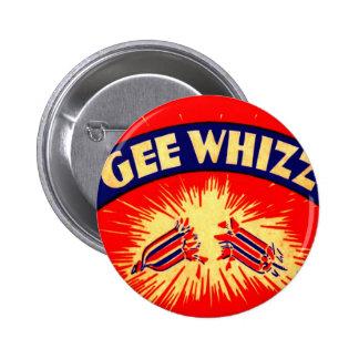 Vintage Gee Whizz petardo fuegos artificiales 4 de Pins